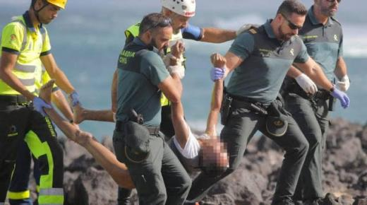 """ارتفاع ضحايا غرق قارب لمهاجرين مغاربة انطلق من أكادير نحو """"الكناري"""" إلى 9 قتلى قرب جزيرة """"لانزاروتي"""""""