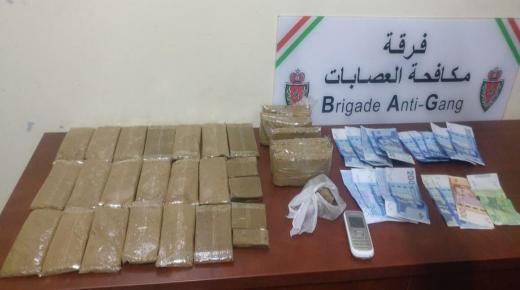 فرقة مكافحة العصابات باكادير توقف خمسينيا وبحوزته 3 كيلو من المخدرات