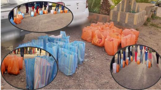 توزيع مساعدات غذائية لفائدة المقيمين الأجانب بتالوين