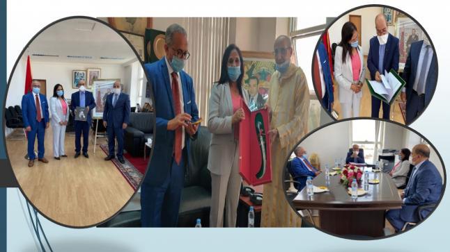 الرئيس الأول بمحكمة الاستئناف بأكادير و الوكيل العام للملك بها يعقدان لقاءا تواصليا مع السيدة امينة بوعياش رئيسة المجلس الوطني لحقوق الانسان