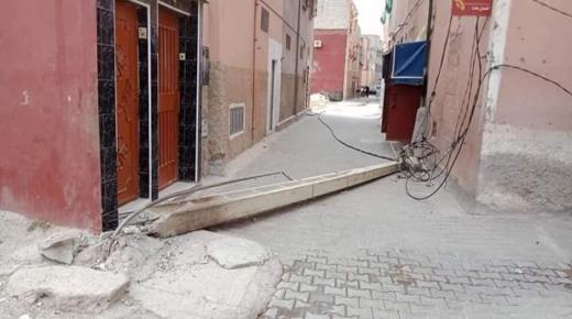 سقوط عمود كهربائي كاد يقتل قاصرا في بيوكرى