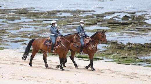 الهرهورة : الدرك يتعزز بفرق الخيالة و دراجات (كواد) بالشواطئ والغابات ، سهرا على تطبيق الطوارئ الصحية