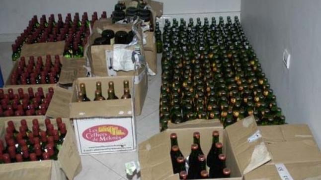 في عملية نوعية ..حجز أزيد من 5000 قنينة للمشروبات الكحولية