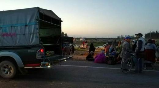 جرحى ومعطوبين في حادث إصطدام بيكوب بشاحنة قرب بيوكرى