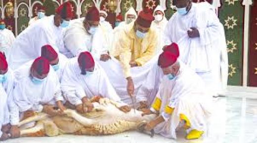 أمير المؤمنين صاحب الجلالة الملك محمد السادس يؤدي صلاة عيد الأضحى المبارك