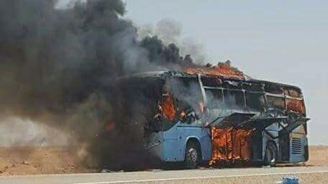 النيران تلتهم حافلة لنقل المسافرين نواحي أكادير