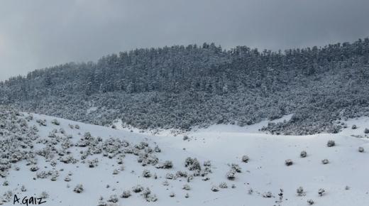 الثلوج تقطع الطريق الرابطة بين مراكش و ور