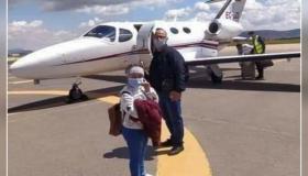 محسنون يوفرون طائرة خاصة لنقل طفلة مريضة بورم سرطاني من الناظور إلى ألمانيا