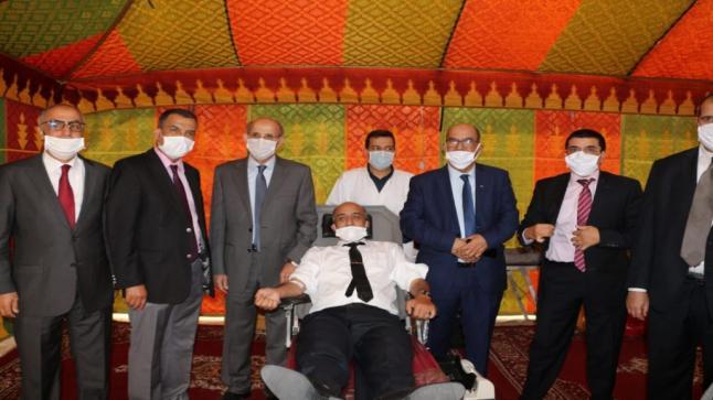 استئنافية أكادير : رجال ونساء القضاء ينخرطون في حملة للتبرع بالدم