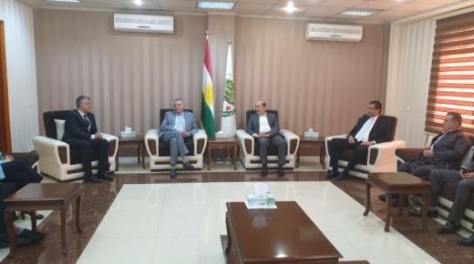 بالصور : نبيل بن عبد الله يرأس وفدا عن حزبه في زيارة لكورديستان