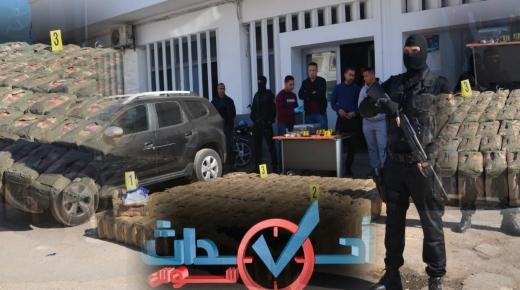 بالفيديو والصور ، اجهاض عملية تهريب طنين من المخدرات على متن شاحنة من طرف لابيجي اكادير