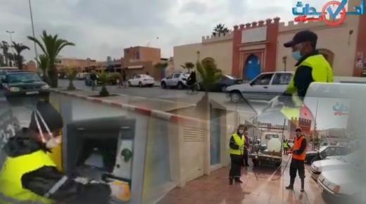 بالفيديو، انطلاق حملة التعقيم بمدينة تزنيت