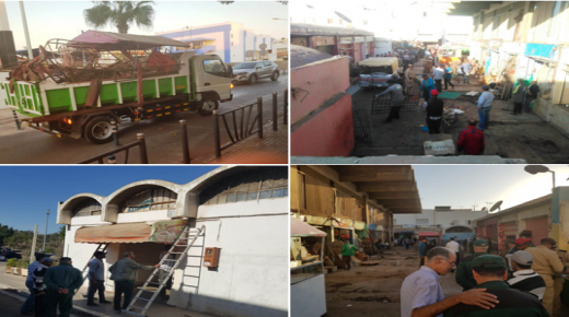 سلطات اكادير تشن حملة واسعة لتحرير الملك العام بسوق تالبرجت (الصور )