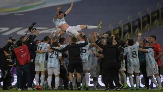 منتخب الأرجنتين بطل النسخة 47 من بطولة كوبا أمريكا