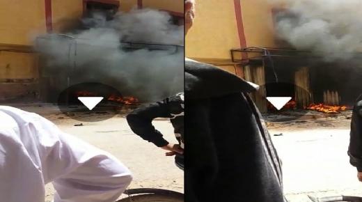 بالفيديو: حريق مهول بايت عميرة ضواحي اشتوكة
