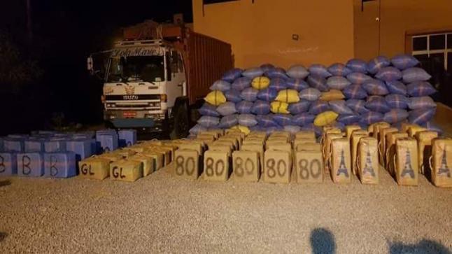 حجز ثلاثة أطنان من مخدر الشيرا ضواحي مدينة كلميم