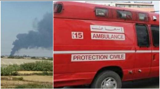 عاجل..اندلاع حريق داخل محطة للتلفيق بأولاد تايمة وإصابات في صفوف العمال