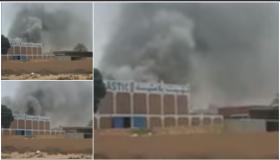 """إندلاع حريق مهول بمصنع """" البلاستيك """" في تزنيت"""