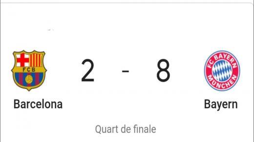 دوري أبطال أوروبا: بايرن ميونيخ يكتسح برشلونة 8-2 ويبلغ نصف النهائي