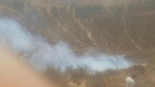 """إندلاع حريق بغابة """" وادي الجنة """" نواحي أكادير"""