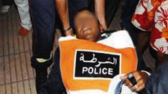 أكادير : شخصان يعتديان على شرطي بالسيوف
