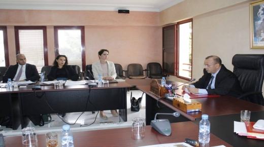 انزكان : بحضور وفد من البنك الاروبي ابو الحقوق يرأس اجتماعا موسعا حول الاستثمار بالاقليم