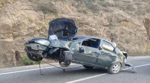 السرعة تقلب سيارة في حادث مروع بإداوسملال