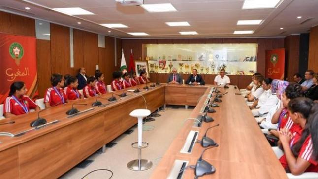 لقجع يُقيم حفل استقبال على شرف المنتخب النسوي الفائز بالميدالية البرونزية في الألعاب الافريقية