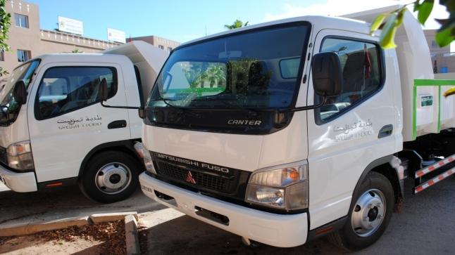 فضيحة : حادث سير تكشف شاحنة أزبال دون تأمين في تزنيت