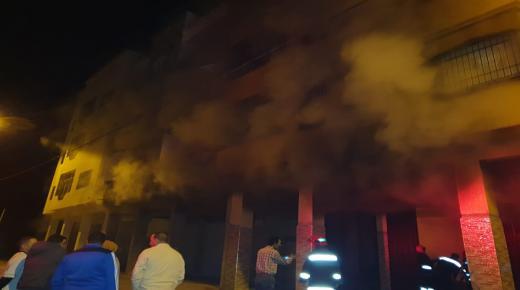 حريق مهول يأتي على مستودع بايت ملول