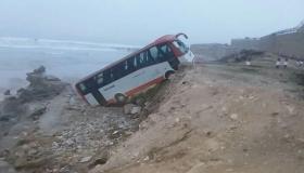 نزوح حافلة لنقل العاملات في بحر أنزا بأكادير