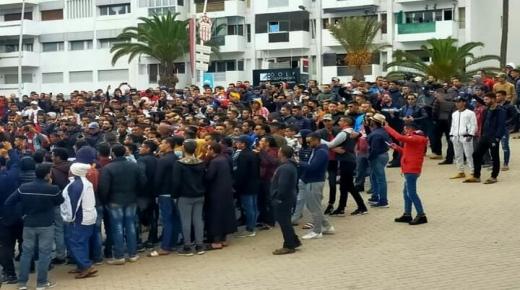 سابقة : جماهير الحسنية في وقفة احتجاجية على قرار إقالة غاموندي