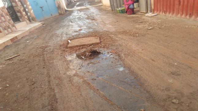 بالصور ، هكذا تبدو بعض شوارع تمسية بعد ساعات من هطول الأمطار
