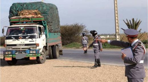 توقيف شاحنة بتزنيت بها مواد غذائية مهربة