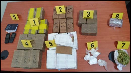 أكادير:الضربات الموجعة ضد تجار المخدرات متواصلة بفضل التنسيق الامني المحكم ، اخرها توقيف شخصين وبحوزتهما 14 كيلو