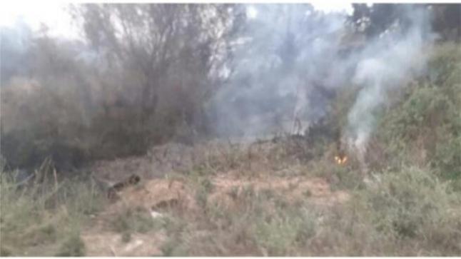 حريق يأتي على واحة ماسة بآشتوكة آيت باها