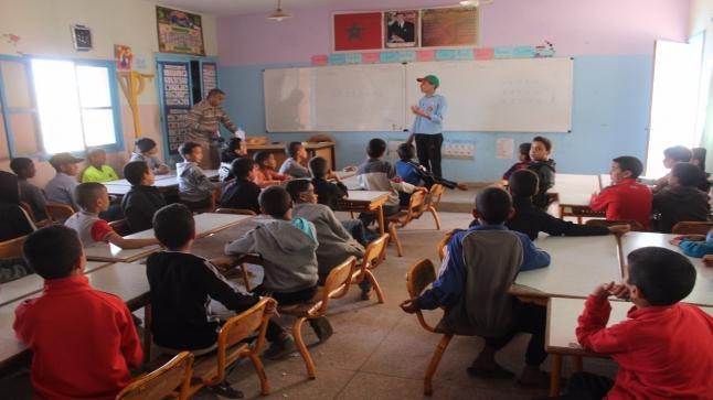 """مدرسة الليمون في صبحية تحسيسية للحماية من مخاطر """" كورونا """""""