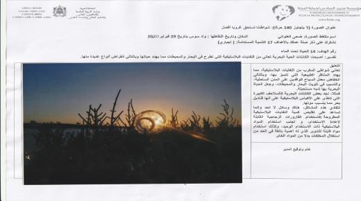 """"""" شواطئنا تستحق غروبا أفضل """" موضوع بحث تربوي في آيت ملول"""