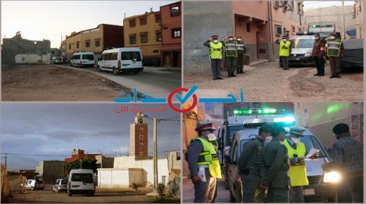 السلطات في دوريات أمنية لفرض الطـــوارئ الصحية بأحياء التمسية
