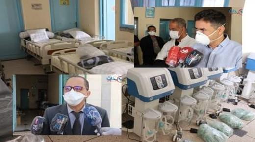 بالفيديو والصور ، تجهيزات ومستلزمات طبية سلمتها عمالة إنزكان للمستشفى الإقليمي