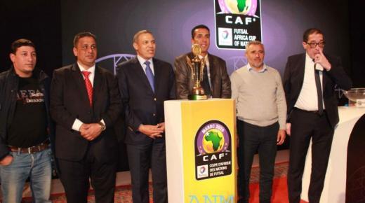 المغرب ضمن المجموعة الاولى ضمن كأس افريقيا لكرة القدم داخل القاعة بالعيون +صور وفيديو