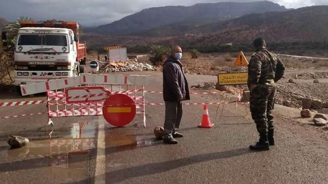 سلطات تزيل مخلفات السيول المائية بجبال آشتوكة