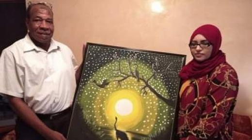 لوحة فنية في لحظة تكريم مربي الأجيال محمد تسير بايت ملول