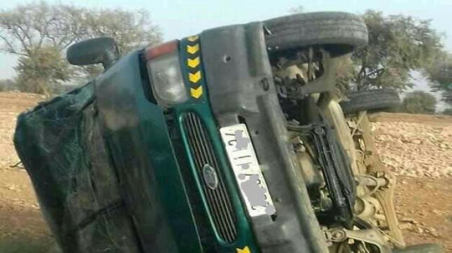 """إصابة 20 شخصا في إنقلاب سيارة """" خطاف """" بأكادير"""