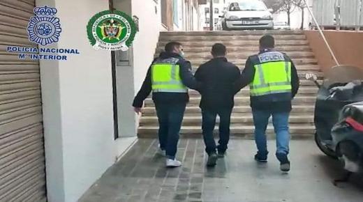 القبض علي مقاتل كولومبي خطير في إسبانيا كان يعتزم الفرار إلى المغرب