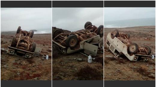 نجاة مواطن في حادث مأساوي ناحية كلميم