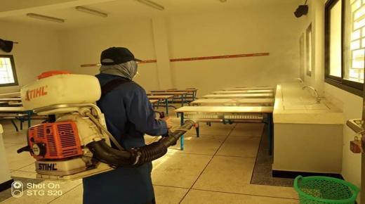 التعقيم يطال مرافق مراكز الامتحانات بأكادير