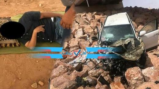 سيارة مندوب للصحة تسقط من أعلى قنطرة في طانطان
