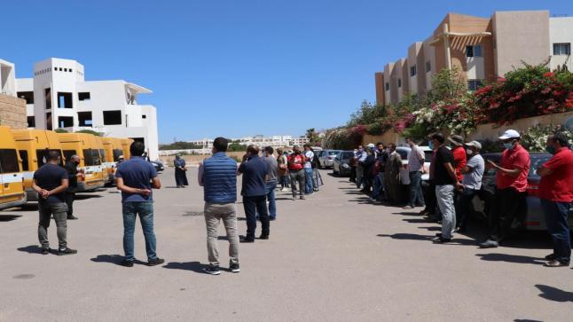 وقفة احتجاجية لأباء وأمهات تلاميذ مؤسسة تعليمية خاصة معروفة بأكادير