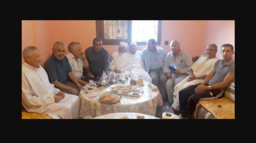 قدماء الحكام والمسيرين في زيارة للحكم الجامعي السابق يوسف أوزكان